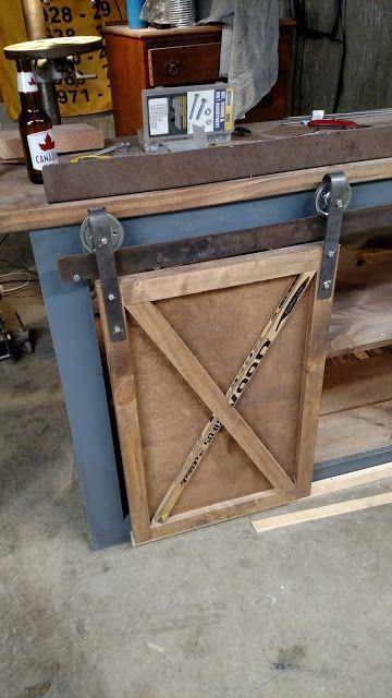 The Bombshell Garage: How to make Barn Door Hardware