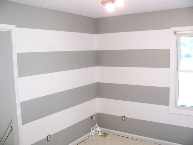 Best 25 grey striped walls ideas on pinterest grey for Painting stripes on walls in kids room