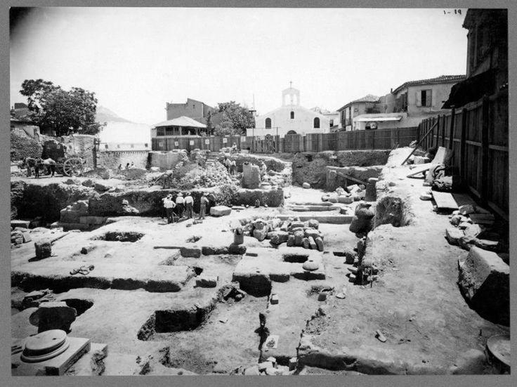 Η Παναγία η Βλασσαρού Δυτική πλευρά Αγοράς. Αρχαία Αγορά. Αθήνα, 22 Ιουλίου 1931