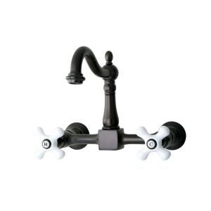Kingston Brass Victorian 2-Handle Kitchen Faucet in Oil Rubbed Bronze-HKS3225AX - The Home Depot