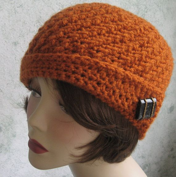Crochet Hat pattern Spiral Rib With Flapper Style Brim Instant Download Easy To Make