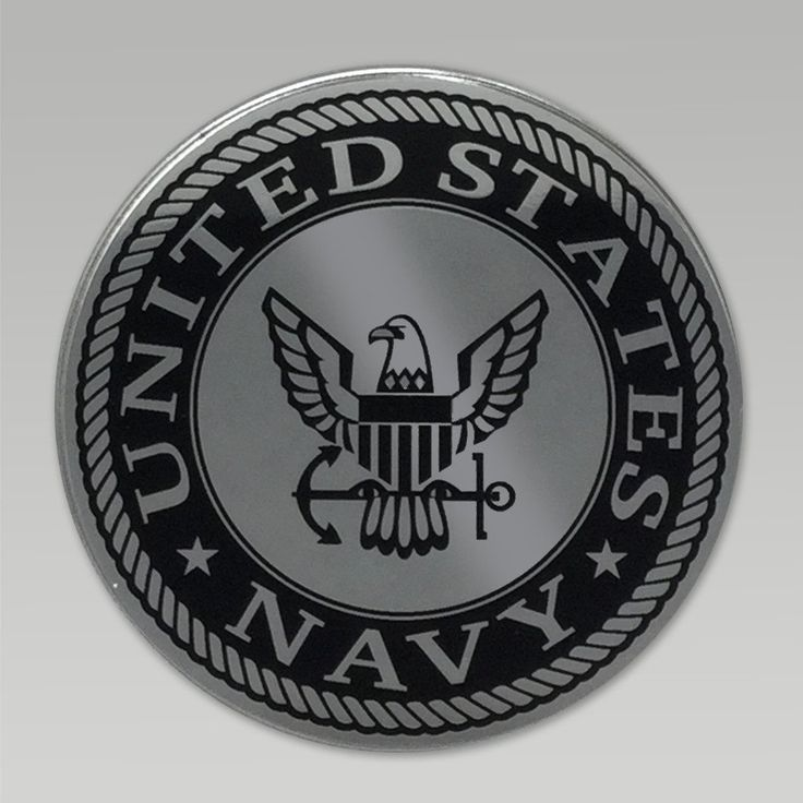 Give your car an added value with this great Navy Eagle Chrome Emblem! &nbsp  Made in the U.S.A. Navy Eagle Chrome emblem To apply peel protective tap from foam adhesive back and apply auto emblem with firm pressure to clean dry area Be careful with application as the adhesive is designed to last for years throughout extreme temperatures and or car washes