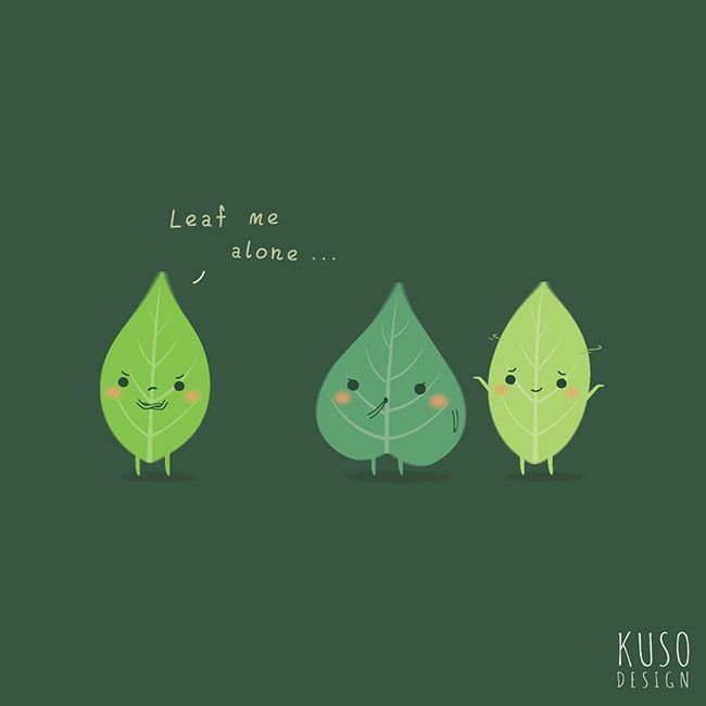 Leaf Me Alone by kusodesign.deviantart.com on @deviantART