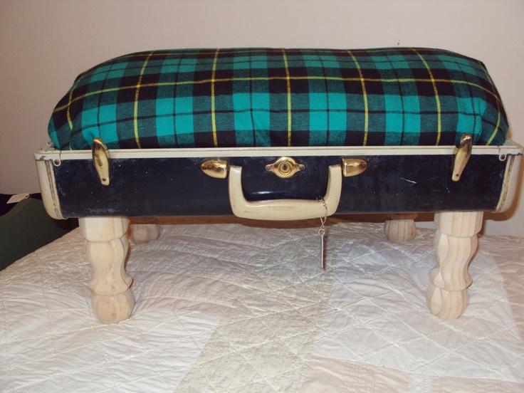 Vintage Luggage Dog Bed