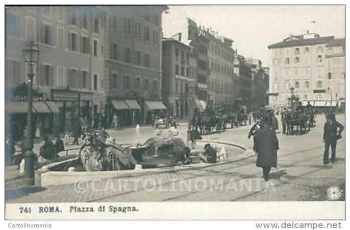 Roma Città Piazza Di Spagna NPG Foto Cartolina QT2099 - Roma