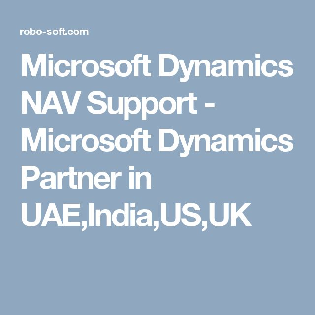 Microsoft Dynamics NAV Support - Microsoft Dynamics Partner in UAE,India,US,UK