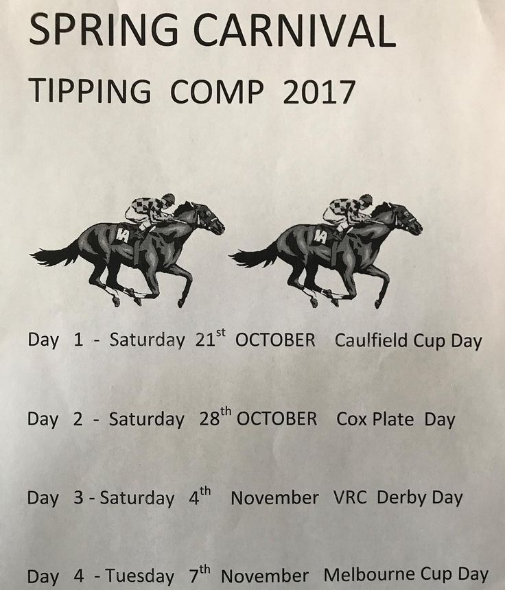 Join the Paragon Hotel Tooheys Spring Carnival Tipping Competition. $20 to enter. Put your tips in for 4 nominated race  meetings. Cash Prizes-1st-$400 2nd-$100 3rd-$50. ENTER NOW!!