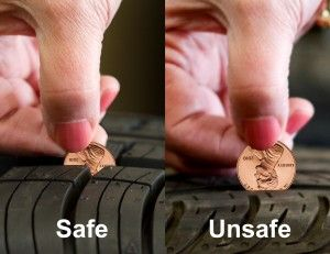 How do you know if your tires have enough tread Take a penny and