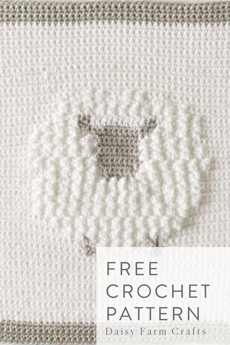 Free Crochet Pattern Crochet Sheep Baby Blanket Crochet Sheep Baby Blanket Animals Baby Blanket Crochet