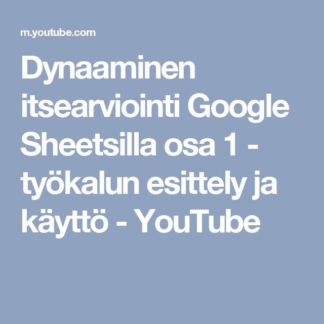 Dynaaminen itsearviointi Google Sheetsilla osa 1 - työkalun esittely ja käyttö - YouTube