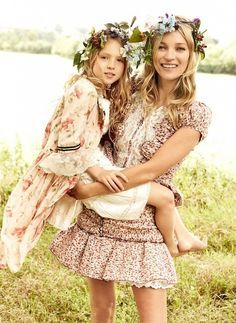 Kate Moss wears florals with daughter Lila Grace