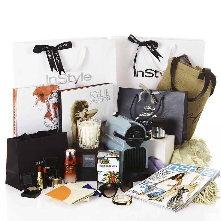 The items inside our most luxe swag-bag yet! With thanks to our partners: Nespresso, Bobbi Brown, Oroton, Balenciaga, Shiseido, Georg Jensen, Waterford Crystal, Mimco, KAS Australia, Tetsuya's, The Beach People, Plumm Cyrstal, Aura by Tracie Ellis.