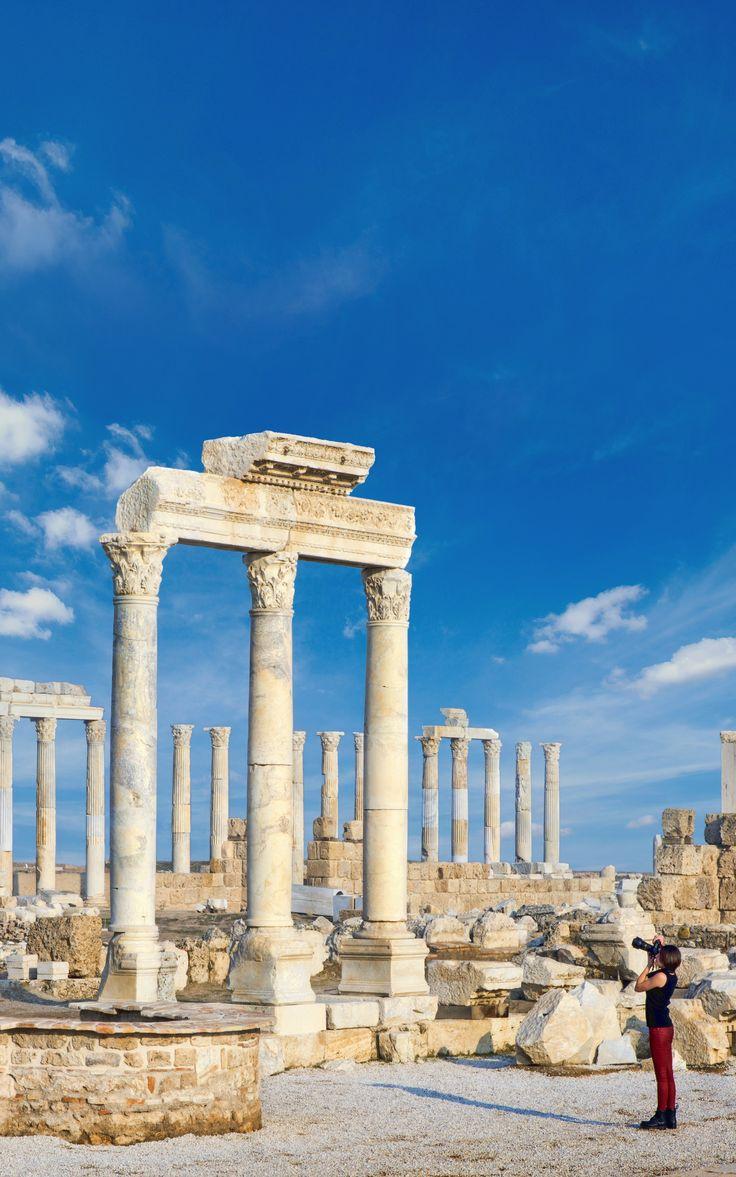 Ancient city of Laodicea in Denizli.
