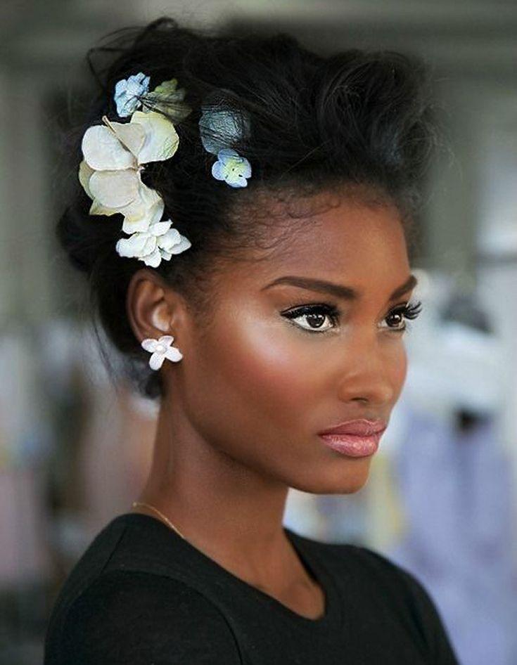 Coiffure afro cheveux crépus, coiffure mariée, bride, mariage, wedding, hair,