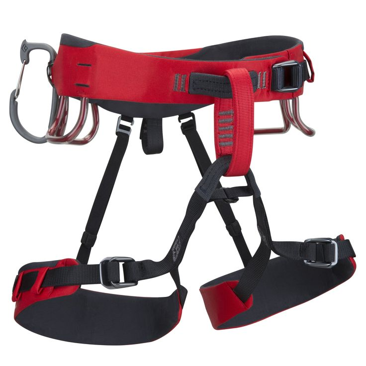 Black Diamond Xenos Harness, Fire Red, Large. Pre-threaded forged speed adjust waist belt and leg loop Buckles. Bullhorn-shaped waist belt built with kinetic core construction. Four pressure-molded gear loops and 12 kn-rated haul loop. Six ice clipper slots and 5Th gear loop for custom racking. Constructed with water-shedding materials.