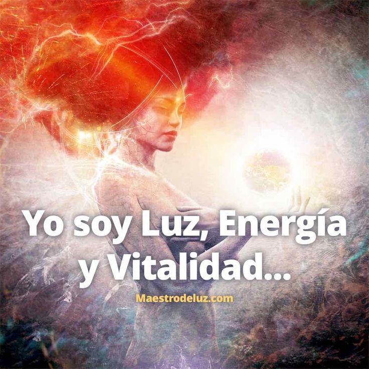 """¡Muy buena semana, la Paz sea contigo! Comenzamos la jornada con una de las afirmaciones favoritas de nuestro amigo Maestro de Luz: """"Yo soy Lua, Energía y Vitalidad..."""". Utilízala a diario para cambiar tu vibración y con ello tu vida."""