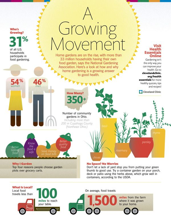 a growing movement gardening infographic