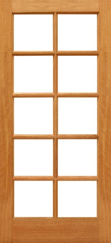 Prehung Slab Ovolo Sticking Insulated Tempered Low E Beveled Dual Double  Glazed Mahogany Full Lite