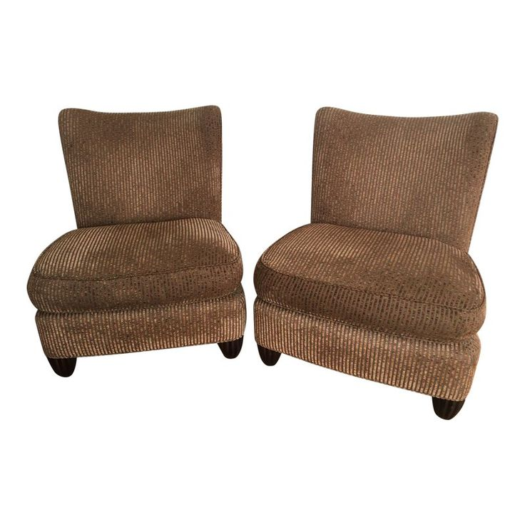Modern Barbara Barry for Baker Slipper Chairs – A Pair – The