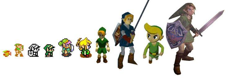 Link: Geek, Game Character, Hero, Legends, Link, Video Games, Videogames, The Legend Of Zelda, Evolution