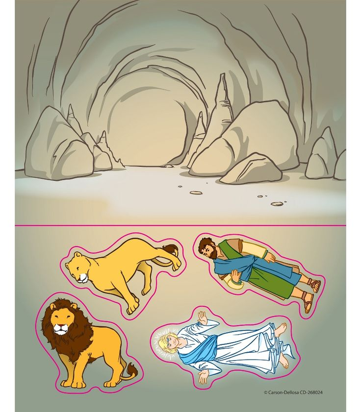 Daniel in the Lions Den Crafts Printables | Daniel in the Lion's Den Stickers