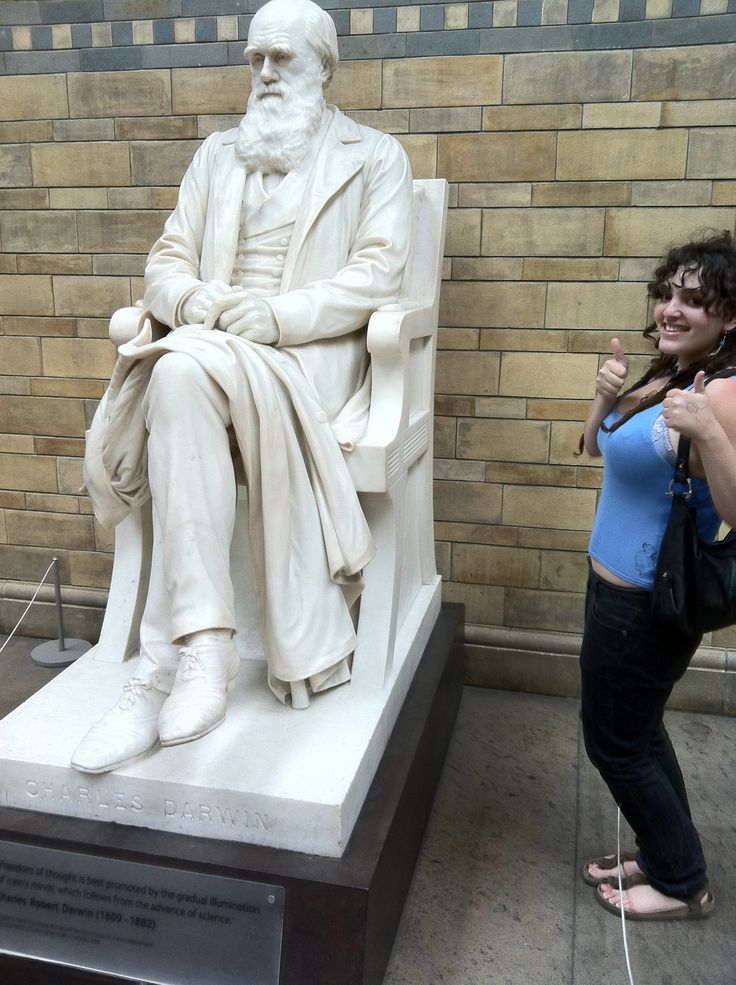 With the big man himself :) Charles Darwin at the Natural History Museum in London.