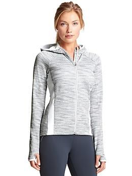 Snowscape Jacket - The textured, wicking hoodie made to be the ultimate second layer for your aerobic winter training.