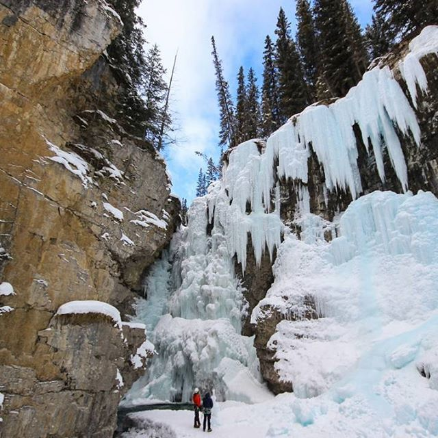 lonelyplanet'What I love most about #Canada is that every season brings new adventures and dramatically different landscapes. Johnston Canyon in #Banff National Park is very popular in warm months, when visitors can wander along the wooden catwalks and watch the gushing waterfalls spill into turquoise pools. Come winter, those same falls are frozen over, creating a wonderland of sparkling ice crystals that you can climb up'- @globeguide #lpInstaTakeover  And that's all from @globeguide for…