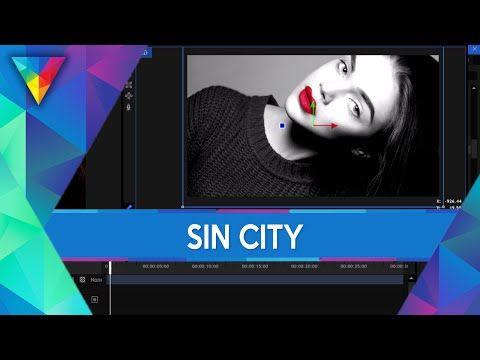 #21 HitFilm 3 Express - Efekt Sin City   Poradnik ▪ Tutorial - YouTube