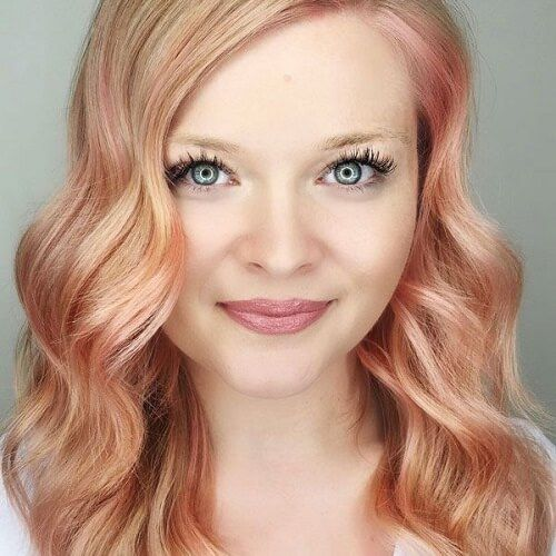 Check out these strawberry blonde, rose gold and light copper hair ideas for all hair textures, eye colors and skin tones!