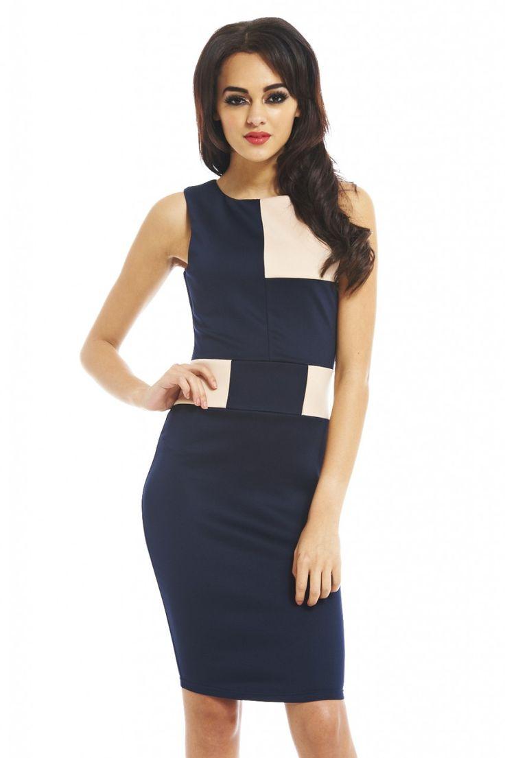 Bodycon Colour Block Dress