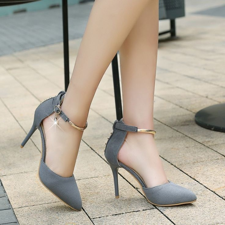 Heel Height: 9 cm Platform Height: - cm Color: Black, Red, Gray Size: US 3, 4, 5, 6, 7, 8, 9, 10, 11, 12 (All… | Cute shoes heels, Shoes heels classy, Fashion heels