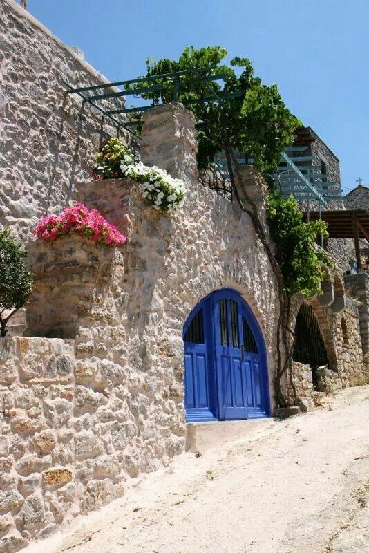 Ancient archway in Chios island