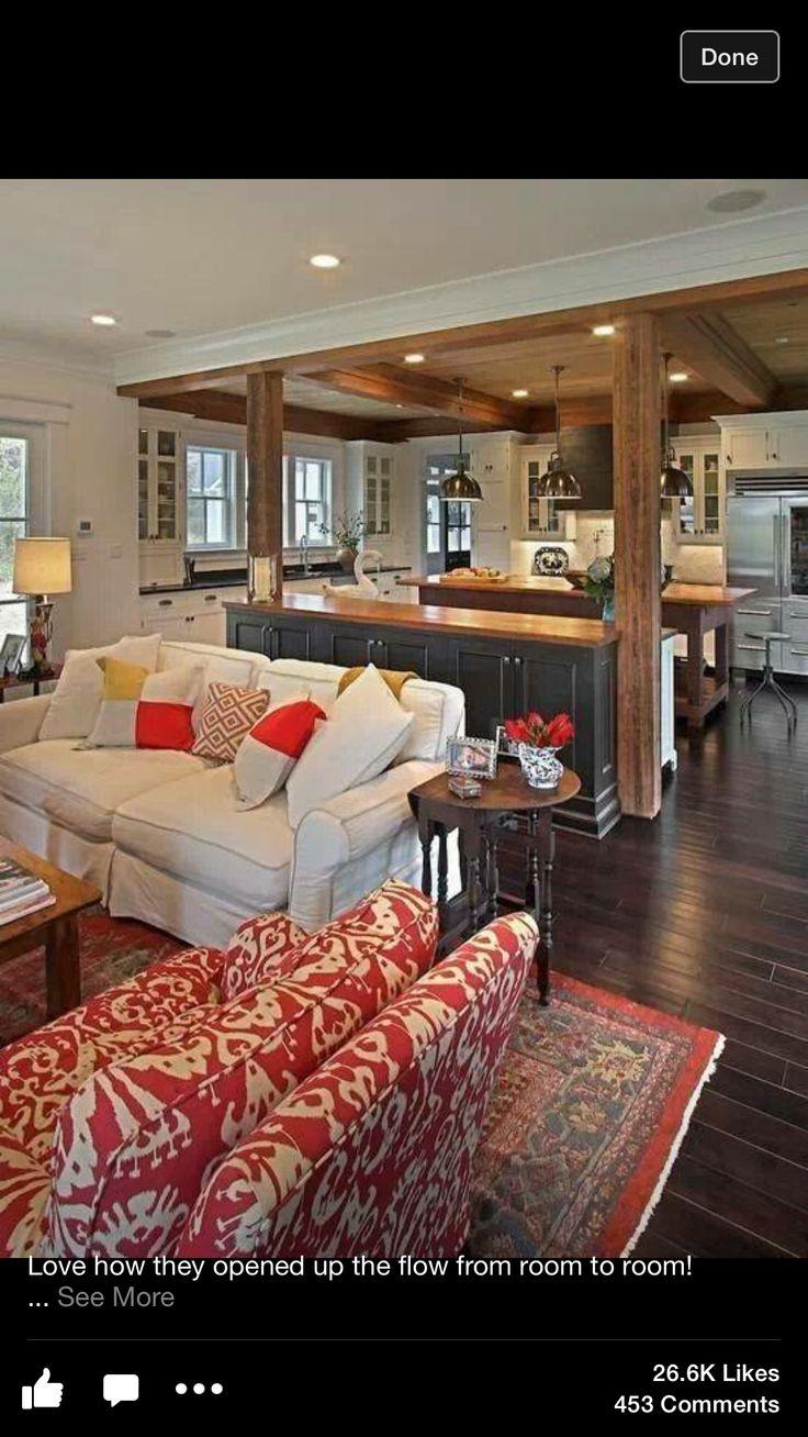 Amazing Wohnzimmer Mit Offener Küche, Wohnzimmer Ideen, Familienzimmer, Wohnideen,  Ideen Für Die Küche