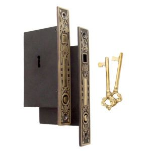 Double Pocket Door Mortise Lock Set