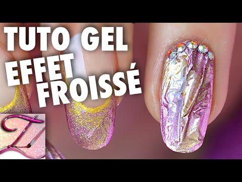 Tuto nail art pro : effet métal froissé en gel