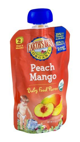 Baby Food 162034: Earths Best Puree Peach Mango Baby Foods 4 Oz -> BUY IT NOW ONLY: $31.97 on eBay!