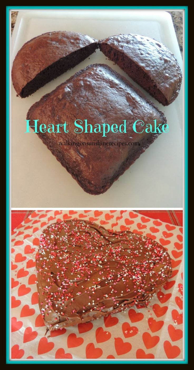 Simple Instructions for Making a Heart Shaped Cake for Valentine's Day.