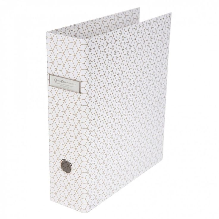 Bigso white and gold geo lever arch file £8