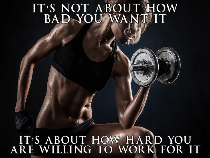 Fitness Model Poster Female Bodybuilder Workout Motivation 18x24 (SGV23) - How Hard You Work For It. #FEMALEFITNESSMODELS