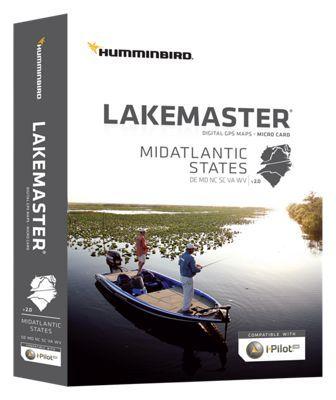 Humminbird LakeMaster Micro SD Card Digital GPS Map - Mid-Atlantic States