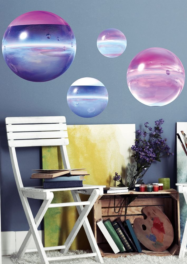 Get the artistic look of this room with one of bimago's trompe l'oeil wall stickers
