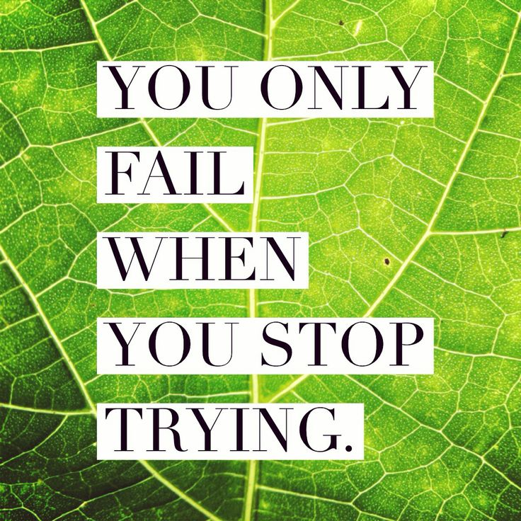 Inspirational Quotes About Failure: You Only Fail When You Stop Trying. - Brian Tracy