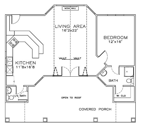Arched cabins 24x32 floor plans bing images for Arched cabin floor plans