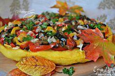 Пирог из поленты с овощами Это очень вкусно, сытно, ароматно, по-осеннему ярко и красиво. #edimdoma #recipe #dessert