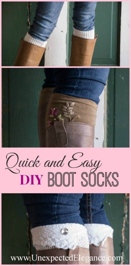 Make your own BOOT SOCKS and find an EASY way to ADD EMBELLISHMENTS. You might be surprised what they are! ;)