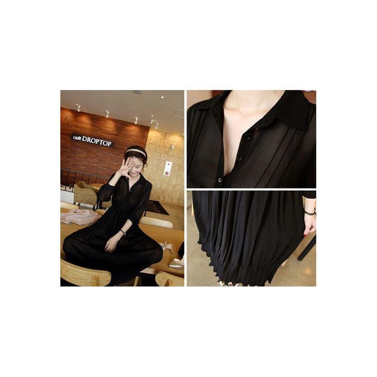 Chiffon Simple Maxi Dress LD182 Black White Model  76136 Condition  New  Black white Fabric - Chiffon Bust - 82-92cm Length - 108cm Sleeve - 45cm 370grams Retail IDR294,000reseller IDR220,500wholesaler IDR183,750