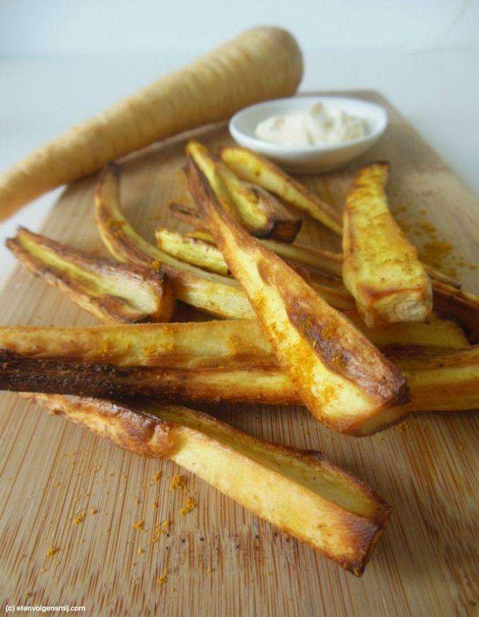 Frietjes van pastinaak, pastinaak frietjes, 4x gezonde frietjes