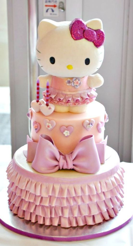 Birthday Cake Pictures Hello Kitty : Best 25+ Hello kitty cake ideas on Pinterest Hello kitty ...
