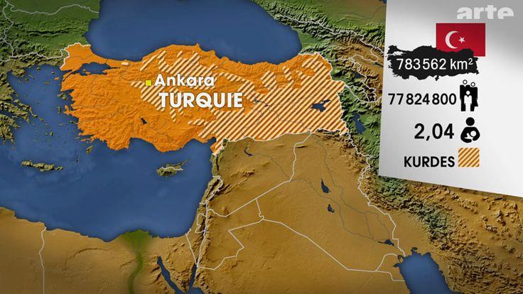Die Türkei ist mit 800.000 km2 mehr als doppelt so groß wie Deutschland und ihre Hauptstadt ist Ankara Das Land hatte 2010 78 Millionen Einwohner und die Geburtenhäufigkeit betrug 2,04 Kinder pro Frau. 80 % der Einwohner sind Türken, 20 % Kurden.